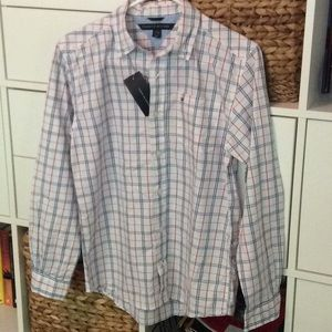 Tommy Hilfiger Boys plaid shirt. NWT, Size L